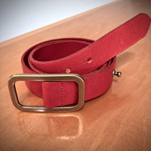 J. Crew Red Leather Belt - Small